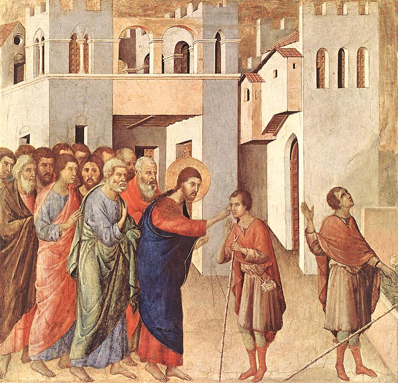 Duccio di Buoninsegna -Healing of the Blind Man