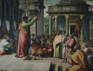Paul Preaching in Athens by Raphael in 1515